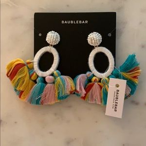 BaubleBar Rainbow Tassel Earrings